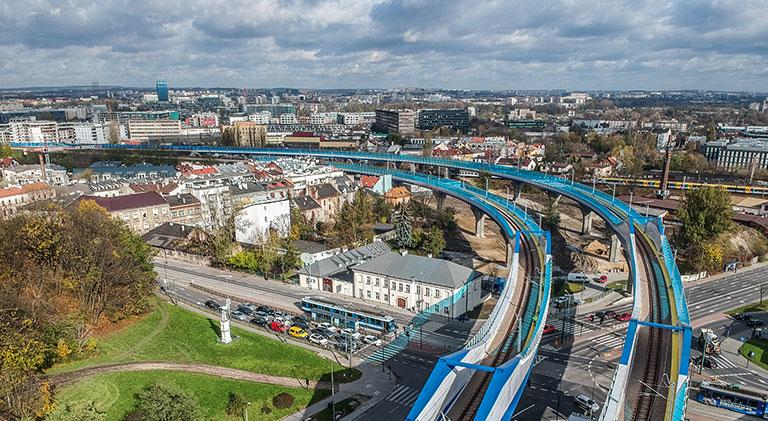 Łącznica kolejowa, Kraków