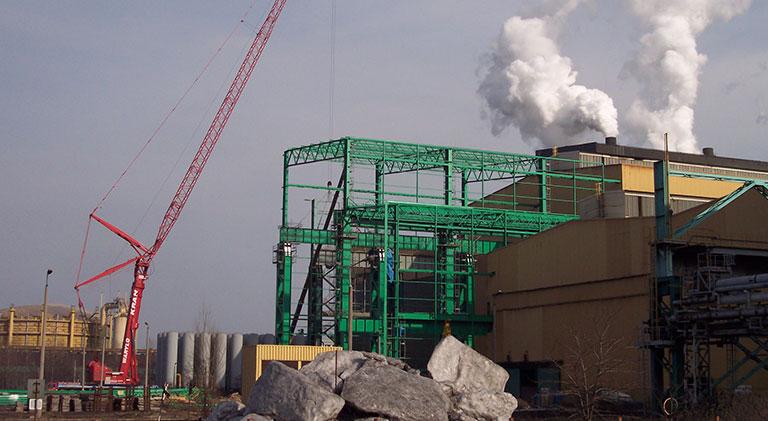 Dostawa i montaż konstrukcji dla Arcelor Mittal, Huta Katowice