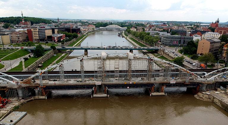 Most M2 na rzece Wisła, Kraków